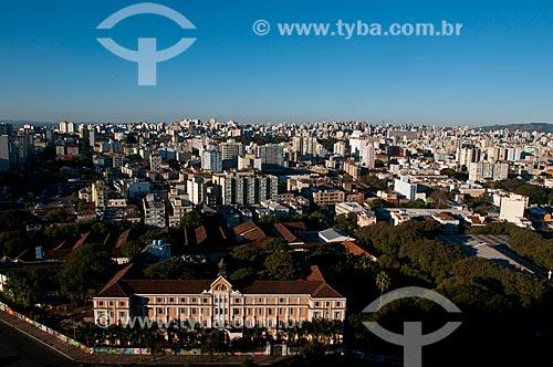 Assunto: Vista aérea do Colégio da Fundação Pão dos Pobres (1930) / Local: Porto Alegre - Rio Grande do Sul (RS) - Brasil / Data: 07/2013