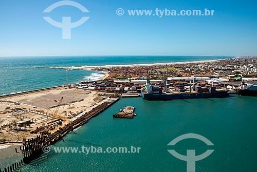 Assunto: Vista aérea do Porto do Mucuripe - também conhecido como Porto de Fortaleza / Local: Fortaleza - Ceará (CE) - Brasil / Data: 06/2013