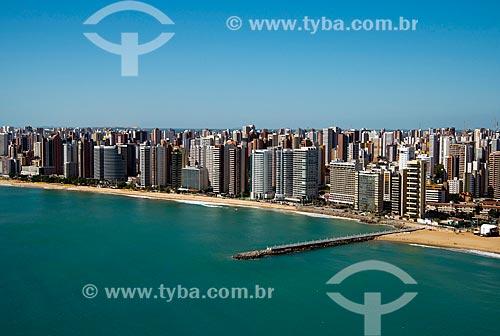 Assunto: Vista aérea da orla de Fortaleza - à esquerda o espigão da Praia de Iracema / Local: Fortaleza - Ceará (CE) - Brasil / Data: 06/2013