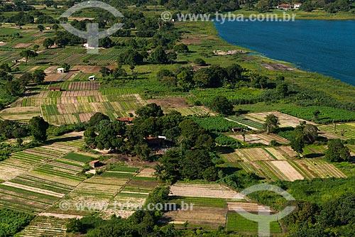 Assunto: Vista aérea de hortas às margens do Açude São Jorge / Local: Parque Dois Irmãos - Fortaleza - Ceará (CE) - Brasil / Data: 06/2013