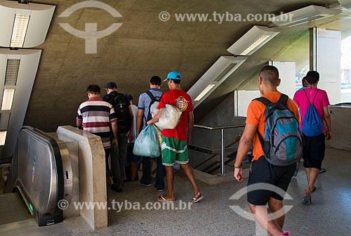 Assunto: Passageiros na estação São Benedito do Metrô de Fortaleza / Local: Fortaleza - Ceará (CE) - Brasil / Data: 05/2013