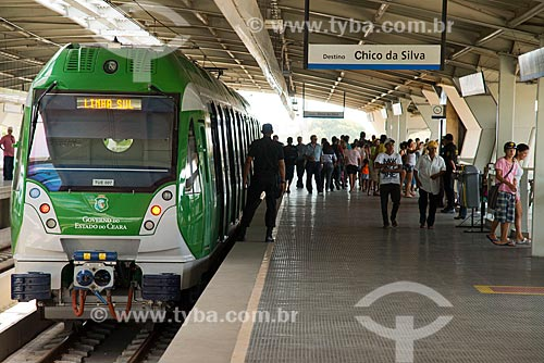Assunto: Plataforma da estação Porangaba do Metrô de Fortaleza / Local: Fortaleza - Ceará (CE) - Brasil / Data: 05/2013