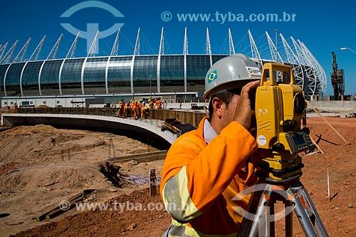 Assunto: Canteiro de obras no trevo de acesso ao Estádio Governador Plácido Castelo (1973) - também conhecido como Castelão / Local: Fortaleza - Ceará (CE) - Brasil / Data: 05/2013