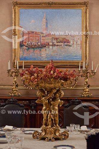 Assunto: Detalhe de quadro no Salão dos Banquetes no Museu da República - antigo Palácio do Catete / Local: Catete - Rio de Janeiro (RJ) - Brasil / Data: 08/2011