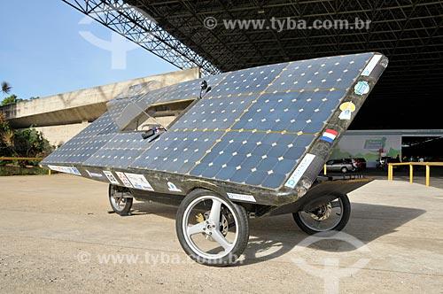 Assunto: Apresentação de veículo movido à energia solar durante o Michelin Challenge Bibendum / Local: Jacarepaguá - Rio de Janeiro (RJ) - Brasil / Data: 05/2010