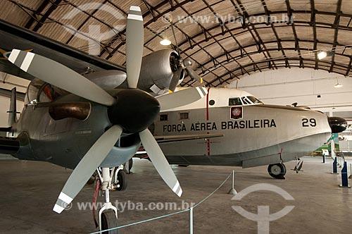 Grumman G-64 Albatross - avião anfíbio destinado a missões de busca e salvamento, sendo capaz de operar na água, na terra, na neve e no gelo - em exposição no Museu Aeroespacial  - Rio de Janeiro - Rio de Janeiro - Brasil