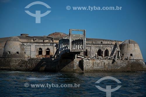 Assunto: Fachada da Forte Tamandaré da Laje (1555) / Local: Rio de Janeiro (RJ) - Brasil / Data: 02/2013