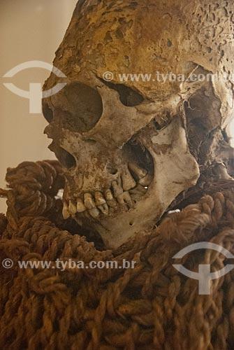 Assunto: Detalhe de múmia indígena no Museu Nacional / Local: São Cristovão - Rio de Janeiro (RJ) - Brasil / Data: 12/2009