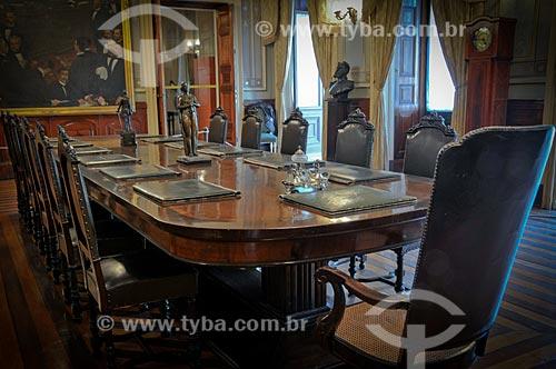 Assunto: Mesa de reuniões no Salão Ministerial do Museu da República - antigo Palácio do Catete / Local: Catete - Rio de Janeiro (RJ) - Brasil / Data: 08/2010