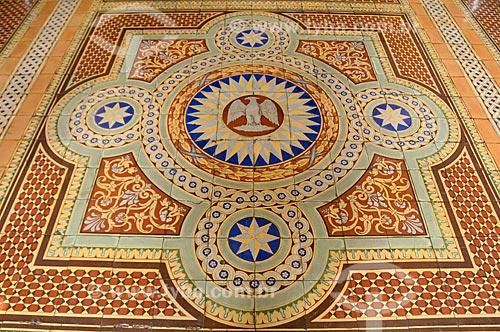 Assunto: Azulejos na entrada do Museu da República - antigo Palácio do Catete / Local: Catete - Rio de Janeiro (RJ) - Brasil / Data: 08/2010