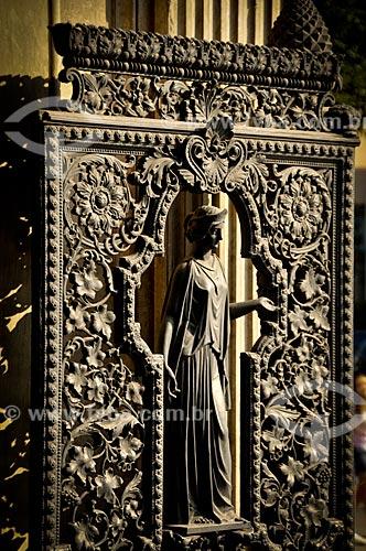 Assunto: Detalhe da grade na porta do Museu da República - antigo Palácio do Catete / Local: Catete - Rio de Janeiro (RJ) - Brasil / Data: 08/2010