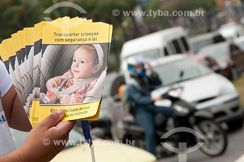 Assunto: Campanha de educação no trânsito - Projeto esquina exemplar - na Avenida das Américas / Local: Barra da Tijuca - Rio de Janeiro (RJ) - Brasil / Data: 09/2010