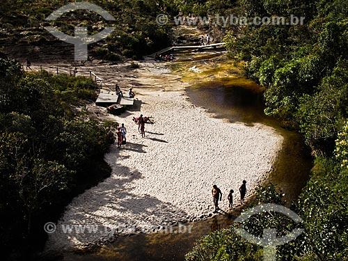Assunto: Praia fluvial no Rio Preto / Local: Lima Duarte - Minas Gerais (MG) - Brasil / Data: 04/2009