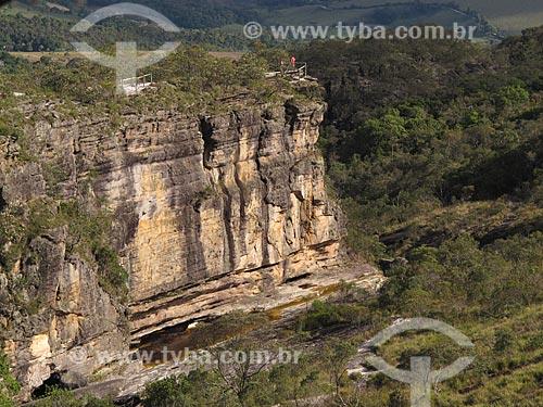 Assunto: Vista do paredão de Santo Antonio no Parque Estadual do Ibitipoca / Local: Lima Duarte - Minas Gerais (MG) - Brasil / Data: 04/2009