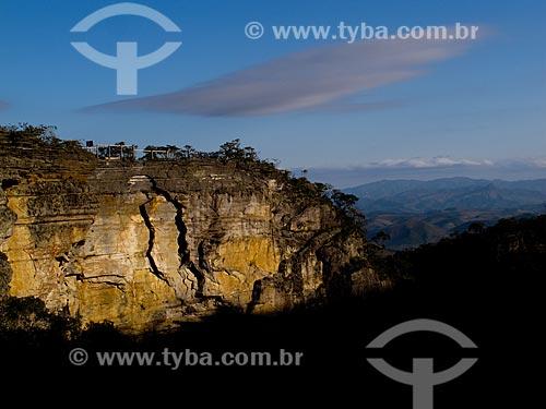 Assunto: Vista do paredão de Santo Antonio no Parque Estadual do Ibitipoca / Local: Lima Duarte - Minas Gerais (MG) - Brasil / Data: 10/2010