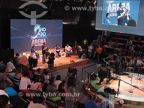 Assunto: Debate na Arena Socioambiental durante a conferência Rio + 20 / Local: Rio de Janeiro (RJ) - Brasil / Data: 06/2012