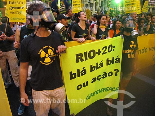 Assunto: Manifestação durante a conferência Rio + 20 / Local: Rio de Janeiro (RJ) - Brasil / Data: 06/2012