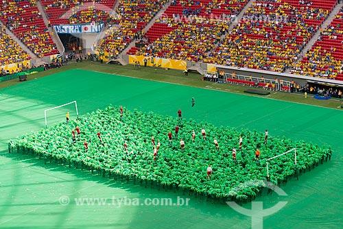 Assunto: Cerimônia de abertura da Copa das Confederações no Estádio Nacional de Brasília Mané Garrincha (1974) antes do jogo entre Brasil x Japão / Local: Brasília - Distrito Federal (DF) - Brasil / Data: 06/2013
