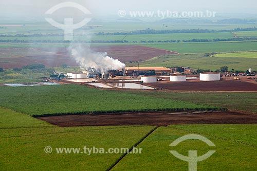 Assunto: Vista aérea da Usina Bela Vista pertencente a Fazenda Bela Vista / Local: Pontal - São Paulo (SP) - Brasil / Data: 05/2013