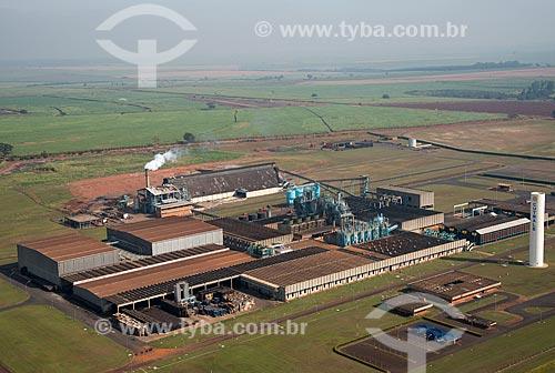 Assunto: Vista aérea da fábrica da Cutrale - industria de suco de laranja / Local: Colina - São Paulo (SP) - Brasil / Data: 05/2013