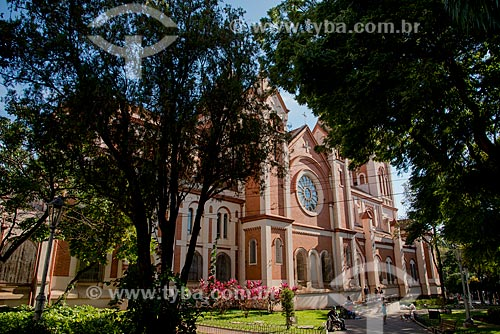 Assunto: Fachada lateral da Catedral Metropolitana de Ribeirão Preto (1917) / Local: Ribeirão Preto - São Paulo (SP) - Brasil / Data: 05/2013
