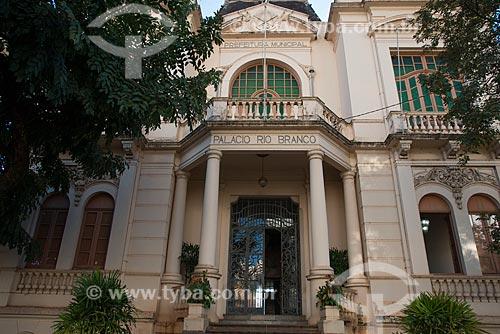 Assunto: Fachada do Palácio Rio Branco (1917) - sede da Prefeitura de Ribeirão Preto / Local: Ribeirão Preto - São Paulo (SP) - Brasil / Data: 05/2013