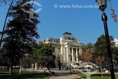 Assunto: Fachada do Museu Nacional de Belas Artes (1880) / Local: Bellas artes - Santiago - Chile - América do Sul / Data: 05/2013