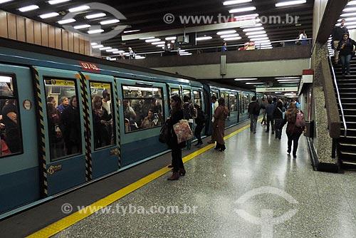 Assunto: Estação de metrô da linha 1 (Los Domínicos - San Pablo)  / Local: Santiago - Chile - América do Sul / Data: 05/2013