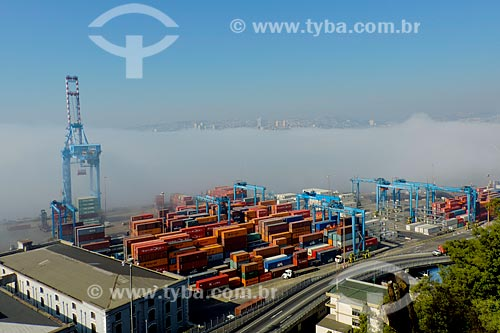 Assunto: Vista aérea do Puerto Valparaíso (Porto de Valparaíso) / Local: Valparaíso - Chile - América do Sul / Data: 05/2013