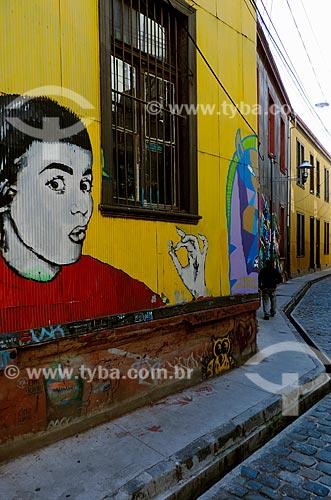 Assunto: Grafite no Cerro Concepción (Morro Concepção) / Local: Valparaíso - Chile - América do Sul / Data: 05/2013