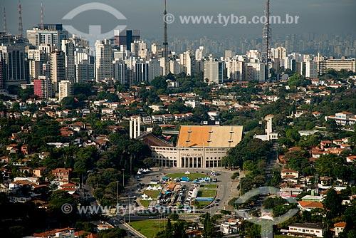 Assunto: Vista aérea do Estádio Municipal Paulo Machado de Carvalho (1940) - também conhecido como Estádio do Pacaembú / Local: São Paulo (SP) - Brasil / Data: 06/2013
