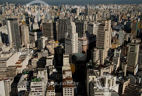 Assunto: Vista aérea da região da Avenida Paulista - Edifício Banespa / Local: Centro - São Paulo (SP) - Brasil / Data: 06/2013