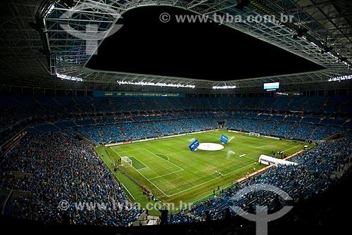 Assunto: Torcedores no jogo entre Grêmio x Liga Deportiva Universitaria (LDU) - Copa Libertadores da América na Arena do Grêmio (2012) / Local: Humaitá - Porto Alegre - Rio Grande do Sul (RS) - Brasil / Data: 01/2013