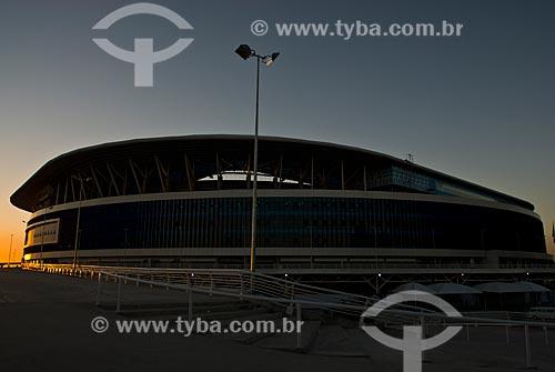 Assunto: Pôr do sol na Arena do Grêmio (2012) / Local: Humaitá - Porto Alegre - Rio Grande do Sul (RS) - Brasil / Data: 04/2013