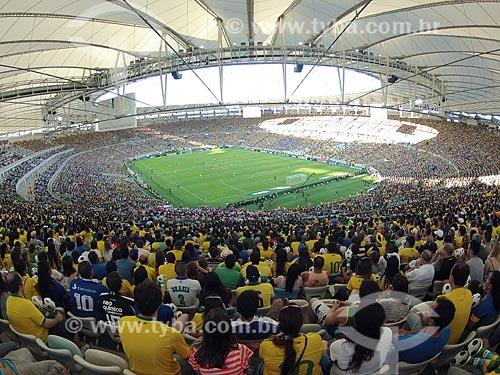 Assunto: Vista geral do campo durante o jogo amistoso entre Brasil x Inglaterra no Estádio Jornalista Mário Filho - também conhecido como Maracanã - foto feita com GoPro / Local: Maracanã - Rio de Janeiro (RJ) - Brasil / Data: 06/2013