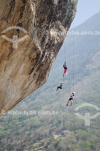 Assunto: Rapel na Pedra da Tartaruga / Local: Barra de Guaratiba - Rio de Janeiro (RJ) - Brasil / Data: 08/2013