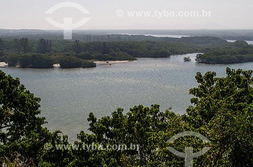 Assunto: Vista da Reserva Biológica e Arqueológica de Guaratiba a partir do Restaurante Bira / Local: Guaratiba - Rio de Janeiro (RJ) - Brasil / Data: 08/2013