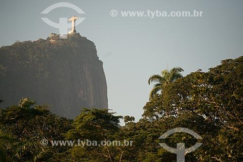 Assunto: Vista do Cristo Redentor (1931) a partir do Jardim Botânico do Rio de Janeiro / Local: Jardim Botânico - Rio de Janeiro (RJ) - Brasil / Data: 08/2013