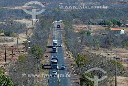 Assunto: Rodovia BR-135 - também conhecida como Transpiauí - próximo à Gilbués / Local: Gilbués - Piauí (PI) - Brasil / Data: 07/2013