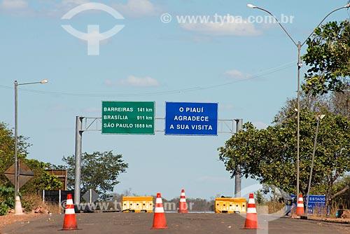 Assunto: Posto da Polícia Rodoviária na Rodovia BR-135 - também conhecida como Transpiauí - divisa entre Piauí e Bahia / Local: Cristalândia do Piauí - Piauí (PI) - Brasil / Data: 07/2013