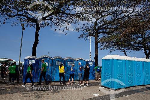 Assunto: Banheiros químicos na orla durante a Jornada Mundial da Juventude (JMJ) / Local: Copacabana - Rio de Janeiro (RJ) - Brasil / Data: 07/2013