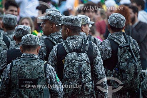 Assunto: Policiais da Força Nacional na Jornada Mundial da Juventude (JMJ) / Local: Copacabana - Rio de Janeiro (RJ) - Brasil / Data: 07/2013