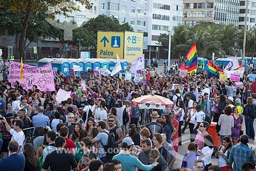 Assunto: Marcha das Vadias durante a Jornada Mundial da Juventude (JMJ) / Local: Copacabana - Rio de Janeiro (RJ) - Brasil / Data: 07/2013