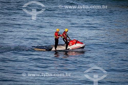Assunto: Salva Vidas na Praia de Copacabana durante a Jornada Mundial da Juventude (JMJ) / Local: Copacabana - Rio de Janeiro (RJ) - Brasil / Data: 07/2013