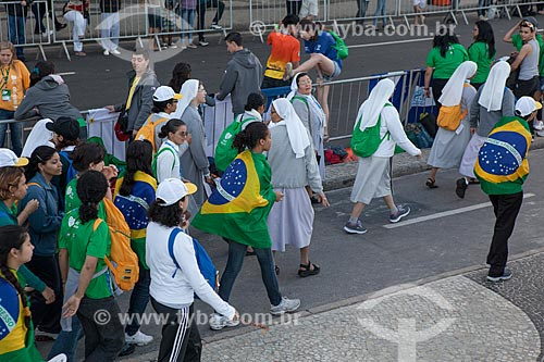 Assunto: Peregrinos na Jornada Mundial da Juventude (JMJ) / Local: Copacabana - Rio de Janeiro (RJ) - Brasil / Data: 07/2013