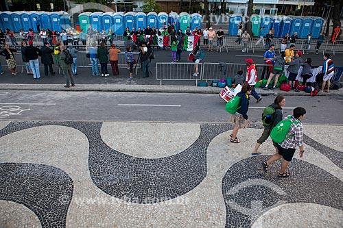 Assunto: Peregrinos da Jornada Mundial da Juventude (JMJ) no calçadão de Copacabana / Local: Copacabana - Rio de Janeiro (RJ) - Brasil / Data: 07/2013