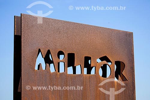 Assunto: Monumento à Millôr Fernandes no Largo do Millôr / Local: Ipanema - Rio de Janeiro (RJ) - Brasil / Data: 09/2013