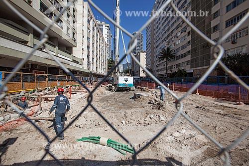 Assunto: Obras na linha 4 do Metrô na Avenida Ataulfo de Paiva - Concessionária Rio Barra S.A / Local: Leblon - Rio de Janeiro (RJ) - Brasil / Data: 09/2013