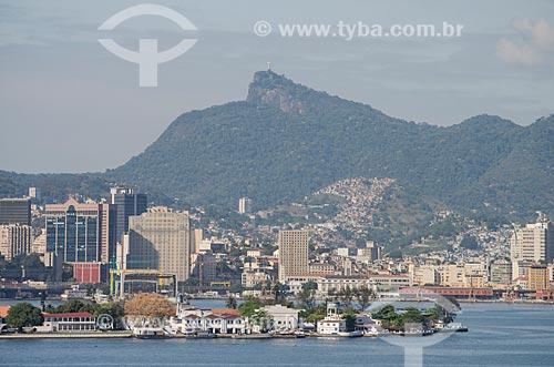 Assunto: Ilha das Enxadas com centro do Rio de Janeiro ao fundo / Local: Rio de Janeiro (RJ) - Brasil / Data: 09/2013