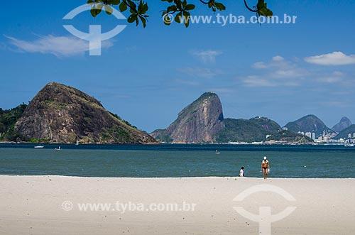 Assunto: Praia de Icaraí com Pão de Açúcar ao fundo / Local: Icaraí - Niterói - Rio de Janeiro state (RJ) - Brasil / Data: 09/2013